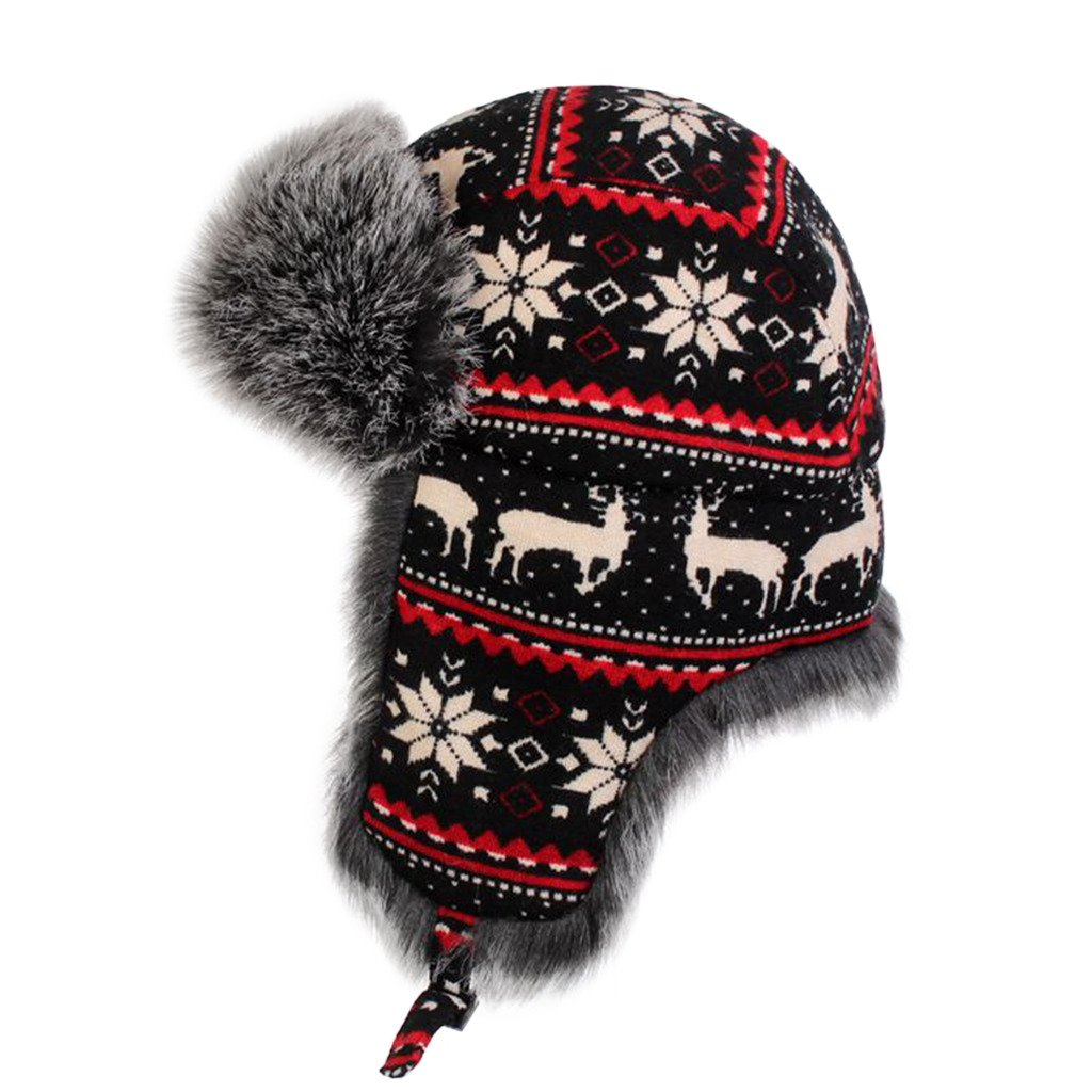 31c6a5af870 lethmik Winter Faux Fur Hunting Hat Unisex Trapper Russian Aviator Trooper  Hat at Amazon Men s Clothing store