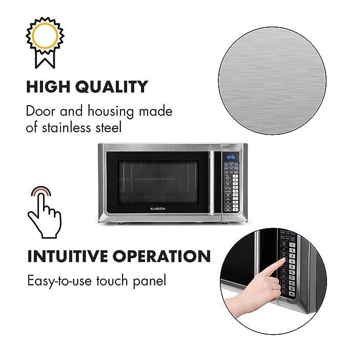 Klarstein Brilliance Pro 43 - Microondas 1500 W, Función grill ...