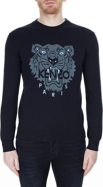 Kenzo Homme Pull Tiger blu: Amazon.fr: Vê