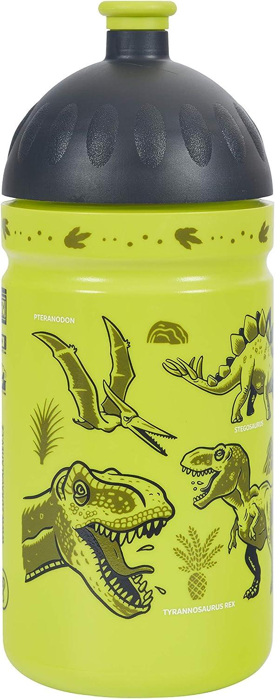 Botella de Agua Ecológica para niños 0,5L *MADE IN EU* sin BPA sin Ftalatos Irrompible, Duradera y Chula!! (Dinosaurios)