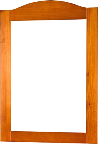 Palace Imports 100 Solid Wood Frame Mirror, Honey Pine, 32 w x 44.5 h. 2 Mirror Supports, Hardware Included.