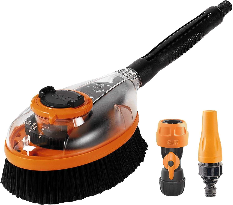 Orange GF Garden Kit Brosse rotative /à Engrenages pour Le Lavage de la Voiture et dautres Surfaces