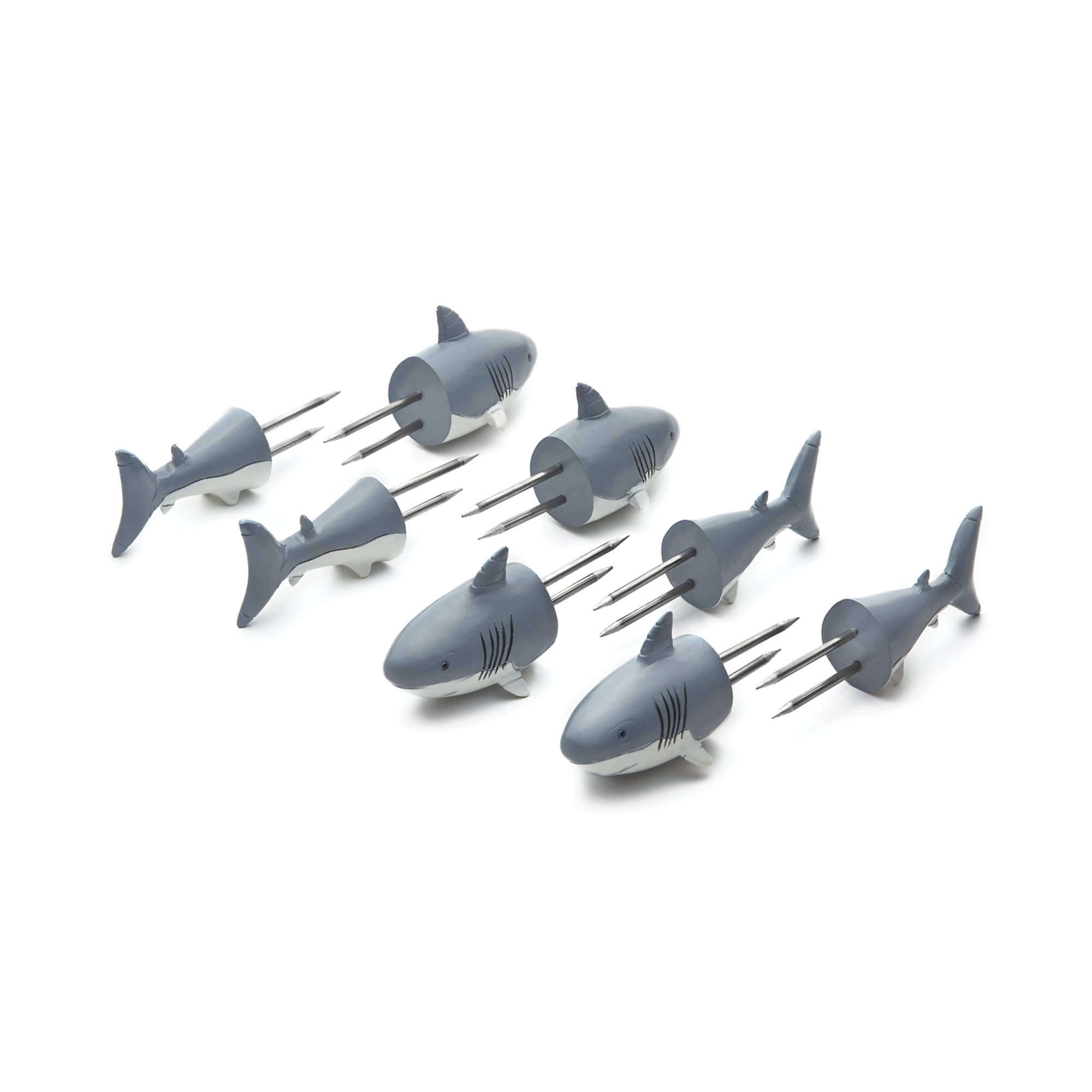 Outset 76168 Shark Corn Holders, Set of 4 Pairs, by Outset