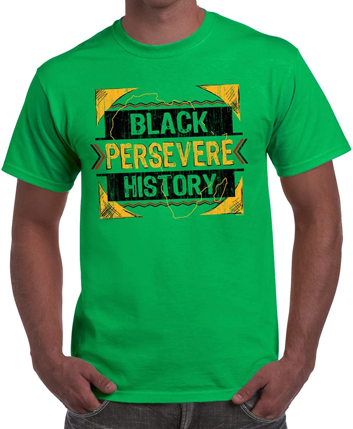 Persevere Black History Month BHM Shirt MLK Novelty Gift Ideas T-Shirt Tee