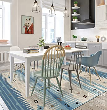 Einzigartige Blau Mediterraner Stil Dick Teppich Für Wohnzimmer Schlafzimmer,  Maxyoyo Jungen Mädchen Ultra Weiches Moderne