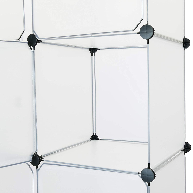 Armario organizador modular Estanter/ías de 12 cubos de 35x35cm pl/ástico blanco con puertas DY033 PrimeMatik