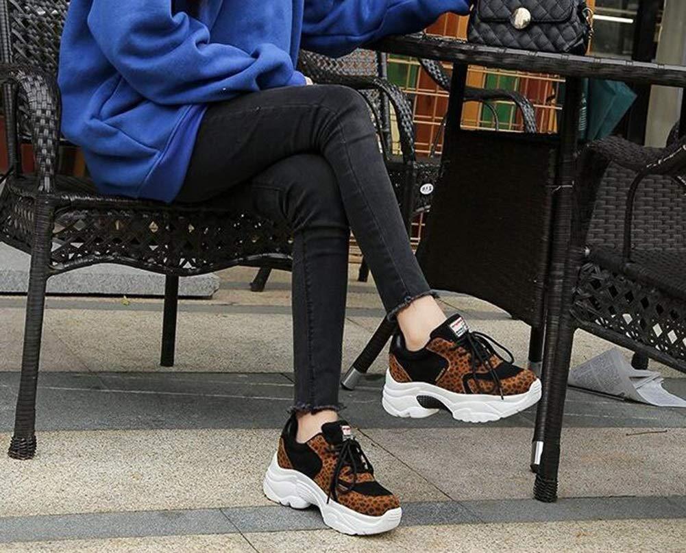 Damen Turnschuhe Frühjahr und Herbst die neuen Sportschuhe Modetrend Damenschuhe Damenschuhe Damenschuhe erhöht Laufschuhe mit dicken Sohlen (Farbe   EIN Größe   39) 961322