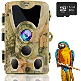 Suntekcam Trail Camera 24MP 1080P Game Camera with 120° Wide-Angle Detection Motion 0.3s Trigger Time for Wildlife…