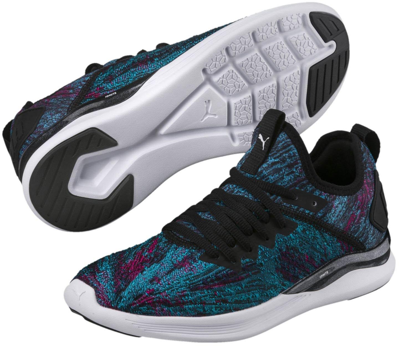 PUMA Women's Ignite Flash Geo Sneaker B078C926J7 7.5 M US|Hawaiian Ocean-puma Black-beetroot Purple