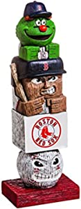 Rico Industries, Inc. Red Sox 16 Inch Tiki Totem Pole Outdoor Resin Home Garden Statue Decoration Baseball