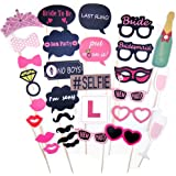Rzctukltd 30PCS Full Set Photo Booth Prop Moustache Wedding/Hen Do Party/Stag Night Game