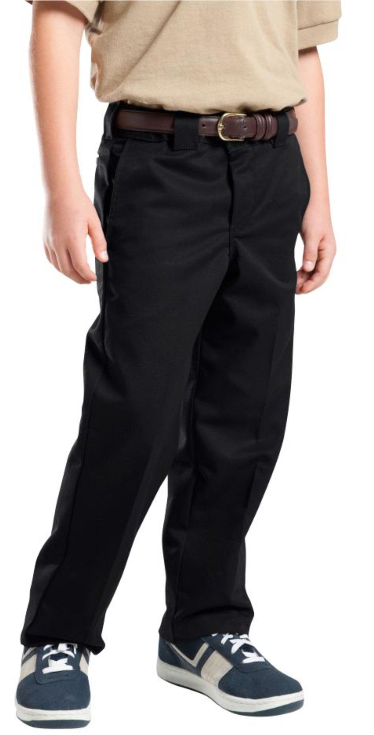 Dickies Big Boys' Slim Straight Pant, Black, 20