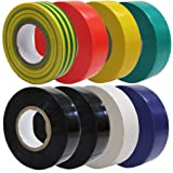 All Trade Direct 8 X Mixed Colour Electrical Insulation Tape 20M Professional British Standard