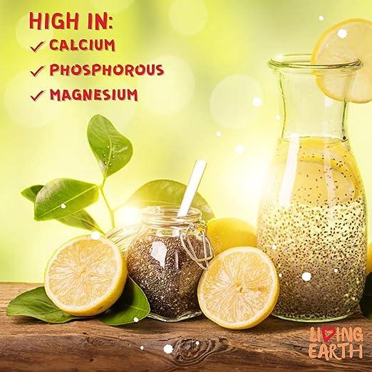 1KG - LIVING EARTH SEMILLAS DE CHIA - Ricas en vitaminas, ácidos grasos esenciales, aminoácidos, fibra, antioxidantes, calcio, fósforo, hierro y proteínas ...