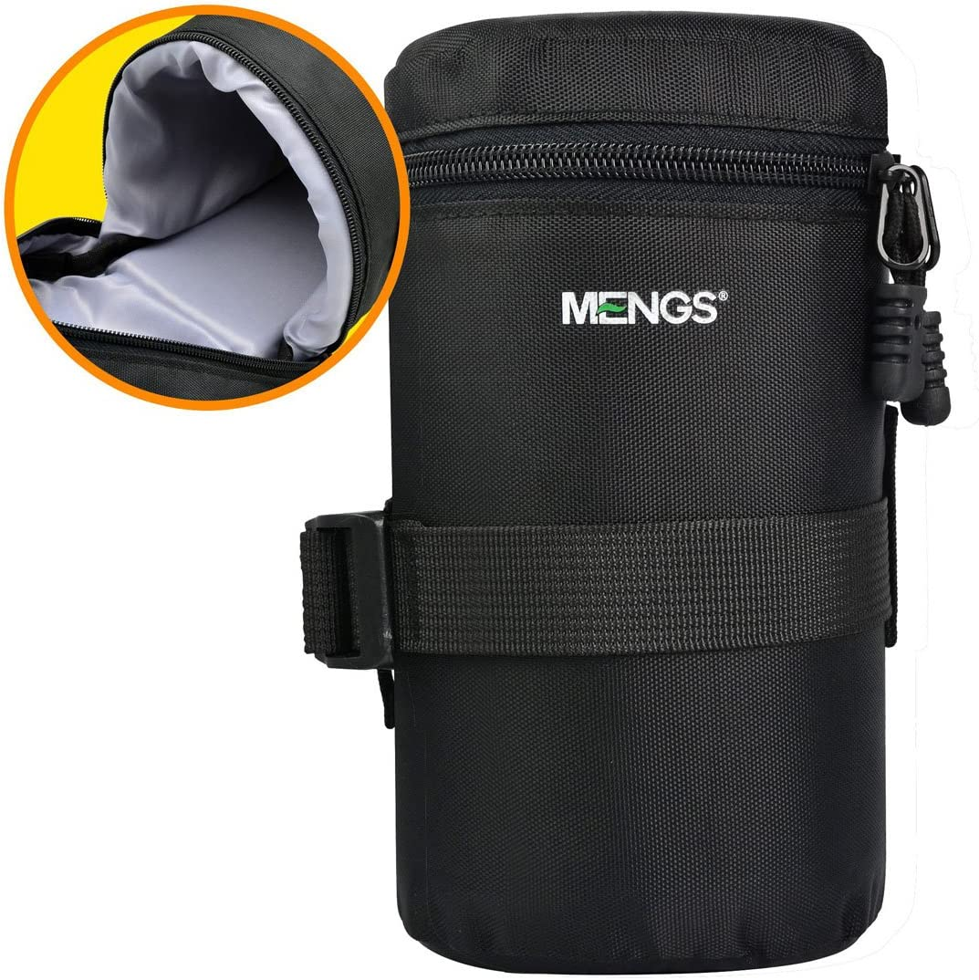 Padded Lens Pouch with Attaching strap and 800D Nylon Material For DSLR Camera Lens H MENGS FY-3 103mm D x 185mm