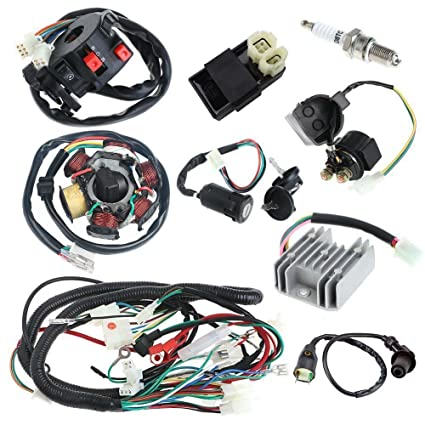amazon com annpee complete electrics wiring harness wire loom Electrical Wiring Connector amazon com annpee complete electrics wiring harness wire loom magneto stator for gy6 4 stroke engine type 125cc 150cc pit bike scooter atv quad automotive