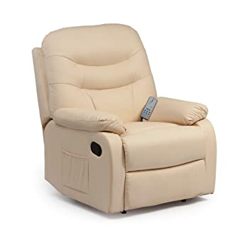 9ea7bfcf862 Hebden Massage Manual Reclining Chair (Cream)  Amazon.co.uk  Kitchen ...