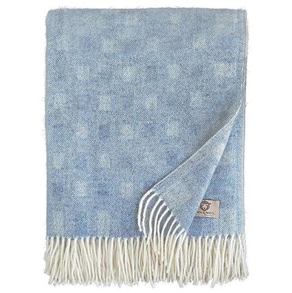 """Bedspread /"""" Patchwork /"""" Woolen Blanket Wool Sofa from 100/% Merino"""