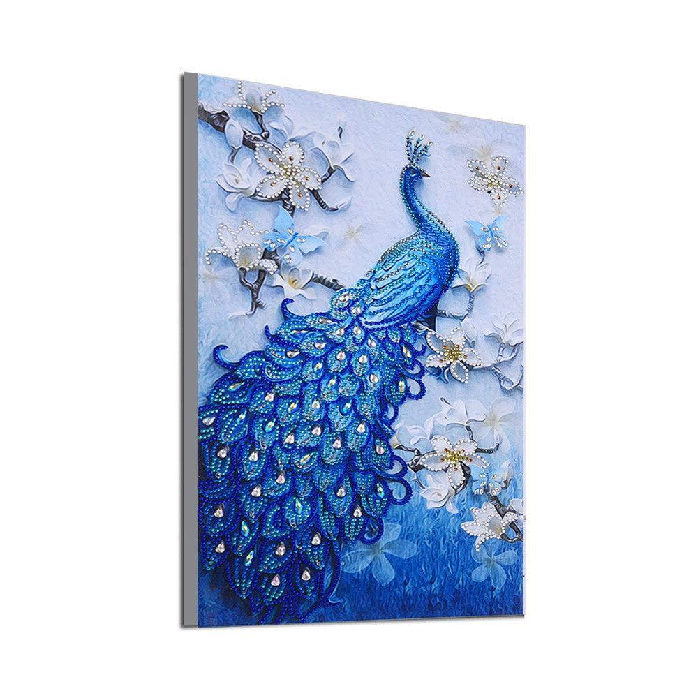 5D Broderie Peinture, Innerternet Spé Cial en Forme De Diamant Peinture Bricolage 5D Forage Partiel Kits De Point De Croix en Cristal Strass De l'image Sé Rie Diamant Broderie Arts Artisanat(A, 40X62cm)