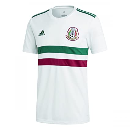 2f2d33dbd1d Image Unavailable. Image not available for. Color: adidas 2018-2019 Mexico  Away Football Soccer T-Shirt Jersey ...