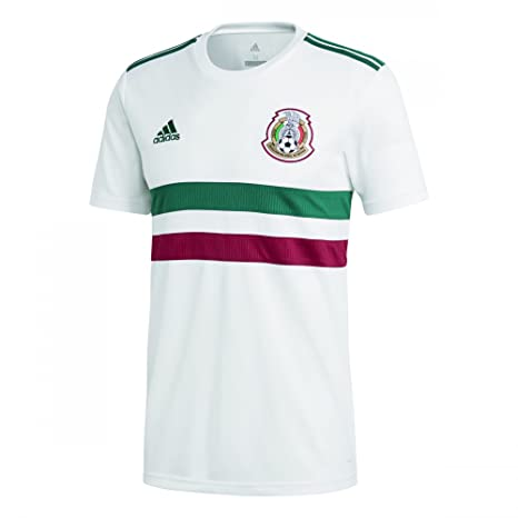 a358496703d67 Amazon.com : adidas 2018-2019 Mexico Away Football Soccer T-Shirt ...