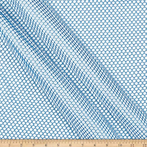 Nylon Mesh Material - Carr Textile Air Mesh Columbia Blue Fabric Fabric by the Yard