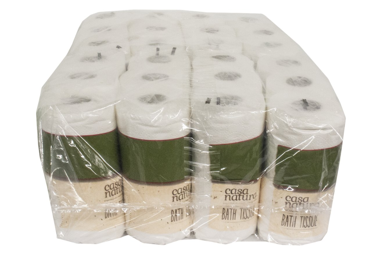 Amazon.com: Casa Natura 100% Biodegradable Bath Tissue 48 rolls (8 packs of 6), (Pack of 8): Health & Personal Care