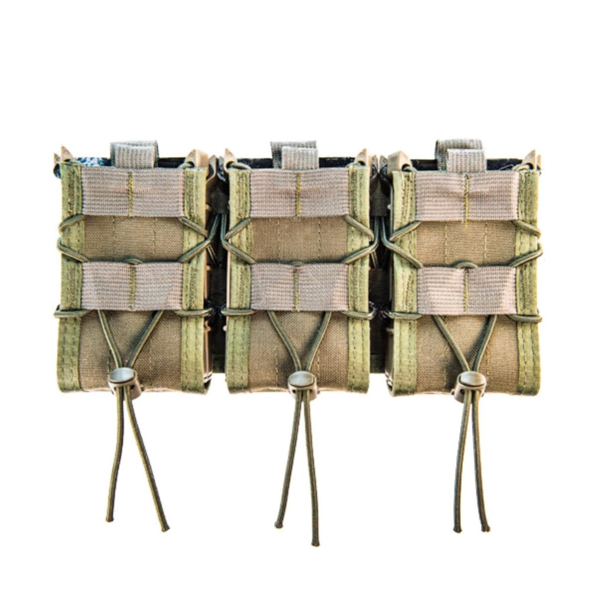 High Speed Gear MOLLE Triple X2R Taco Shingle, Holds 6 Rifle Mags, Olive Drab