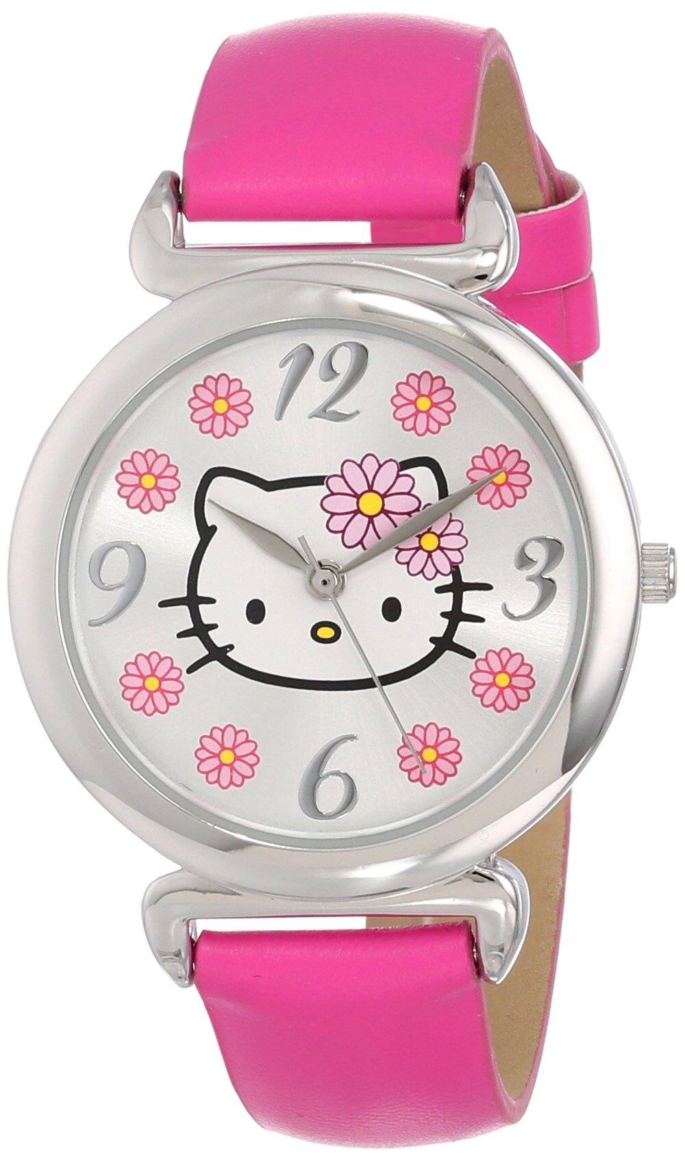 Sanrio Hello Kitty Women's HKAQ5371 Watch With Pink PU Band