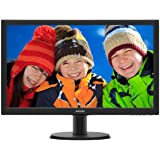 "Philips 243V5QHABA LED-Lit Monitor 24"", Black"