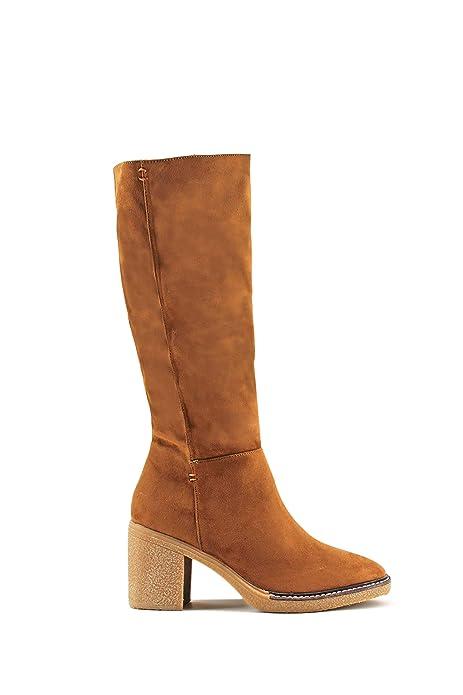 Bota Modelisa Media Y Zapatos Tacón Caña Amazon es Mujer HfSwdqf
