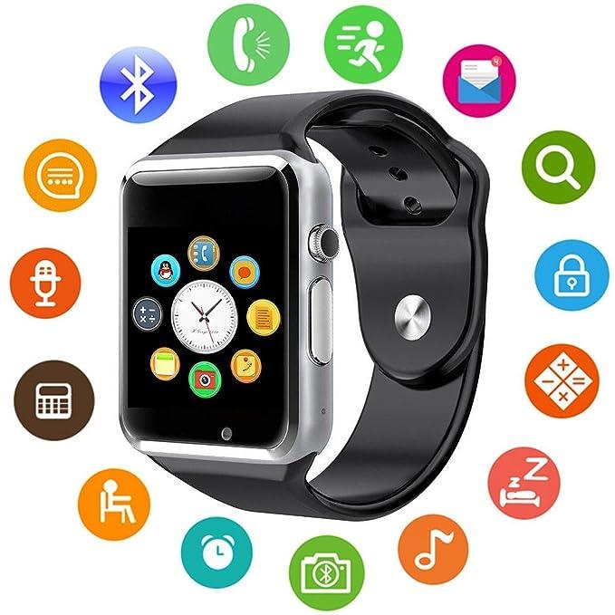 (Modelo Actualizado 2018) KKCITE 1.54inch SmartWatch Teléfono Con Pantalla Táctil, 2G GSM SIM, Soporte Sleep Monitor, Cámara, Mensaje De Inserción, ...