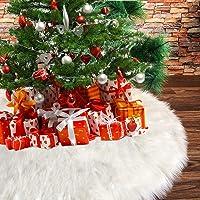 Deggodech Falda del árbol de Navidad Blanco Christmas