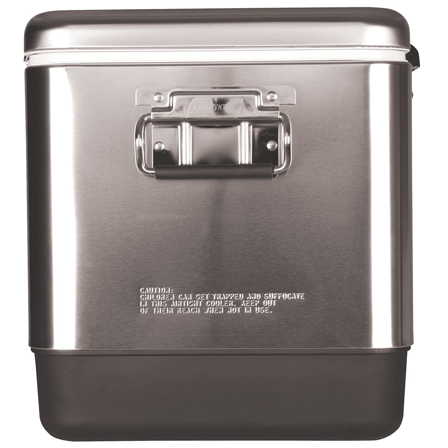 Coleman 54 Quart Steel Belted  Cooler Stainless Steel