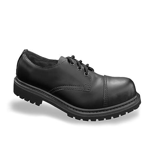 Mil Tec Invader 3 Loch Stiefel Stiefel Stiefel Stiefel Schwarz Stahlkappe Leder ... 4abacd