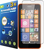 GuarmorShield 3x Nokia Lumia 630 635 Premium Clear LCD Screen Protector Cover Kit (Package by GUARMOR)