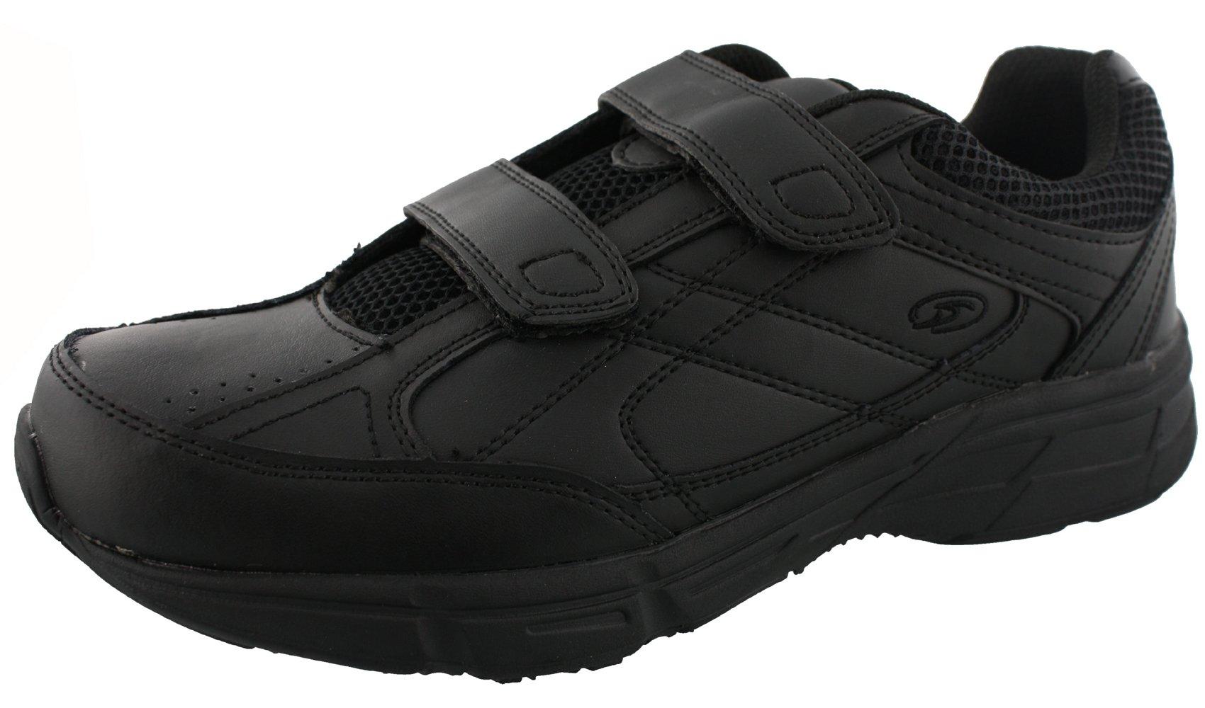 Dr. Scholl's Men's Brisk Light Weight Dual Strap Sneaker, Wide Width (11 Wide, Black) by Dr. Scholl's