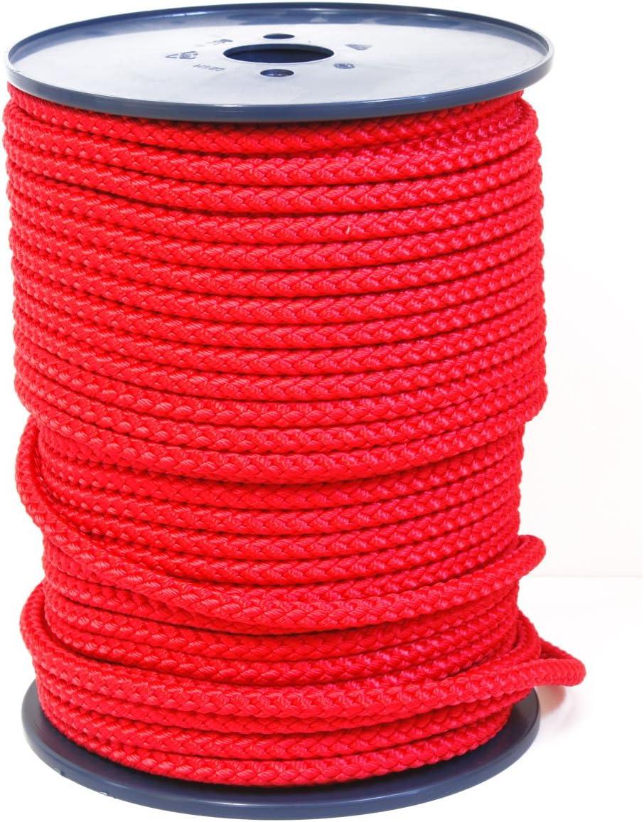 9mm Rot Sport PP Meterware von der Rolle FTM Springseil Tau Seil f/ür Fitness Schule und Training