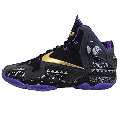 921c78bf035b76 Nike Lebron XI BHM Black History Month Anthracite - Metallic Gold - Purple  Venom Mens 8. 5  Buy Online at Low Prices in India - Amazon.in