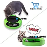 THE DDS STORE Interactive Running Mouse and Scratching Pad Catnip Toys for Cats (Green)