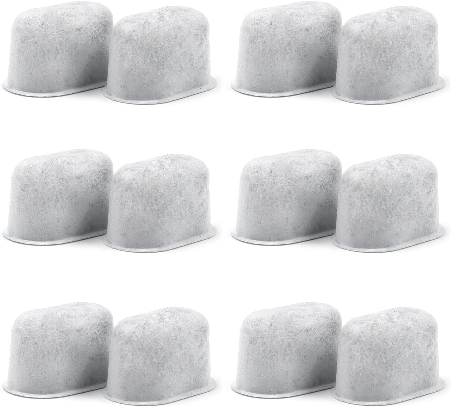 12 Pack Cuisinart Compatible Charcoal Water Filters - Removes Chlorine, odors, and others impurities from Water - for Cuisinart Coffee Machines 715mhHh1LzL