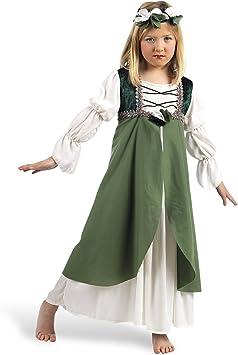Limit Sport - Disfraz de Clarisa medieval para niña, color verde ...