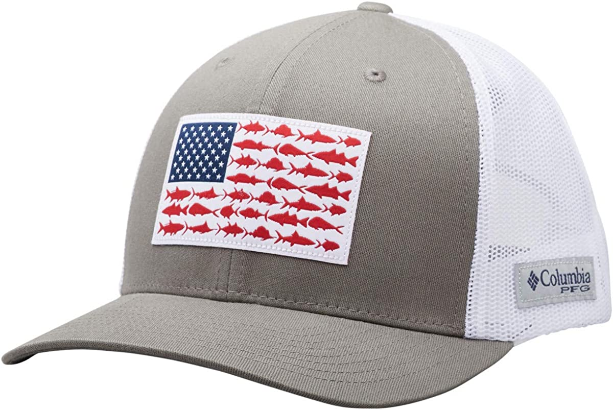 Columbia Men's PFG Fish Flag Snapback Ball Cap, Breathable, Adjustable: Clothing