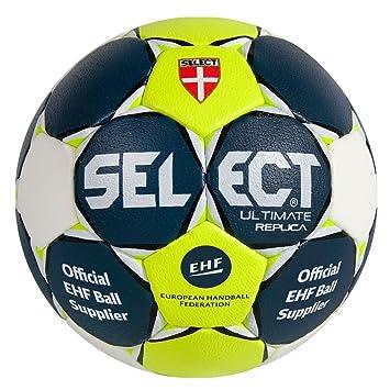 Ballon Select Ultimate Replica marine/blanc/jaune: Amazon.es ...