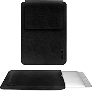 TOWOOZ 13-13.3 inch Leather Laptop Sleeve, Notebook Protective Case Cover Sleeve for 2020 MacBook Air 13 A1932/A2179 / 2020 MacBook Pro A2289/A2251