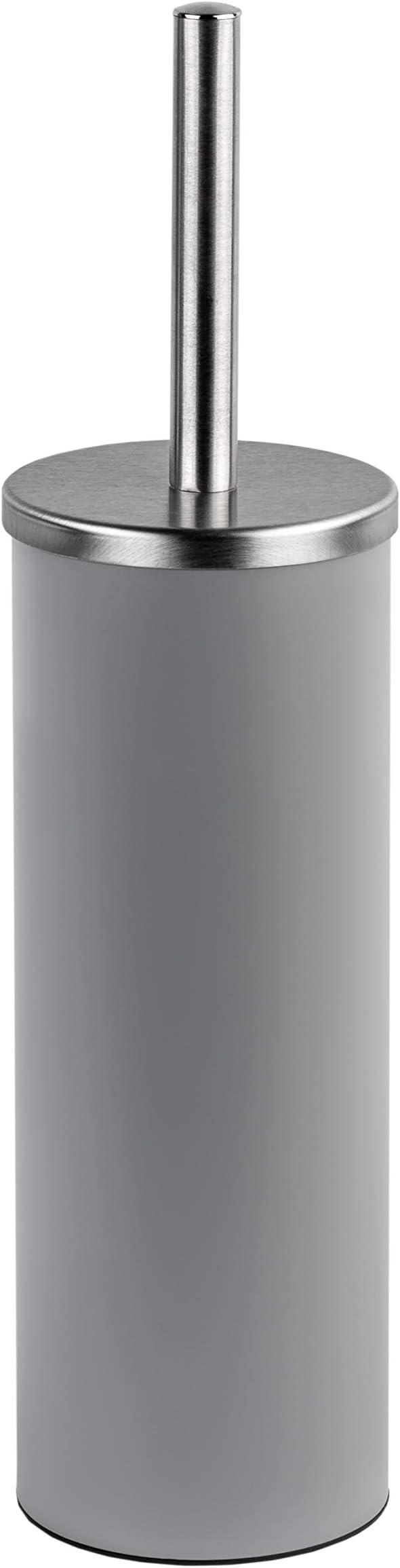 Testina dello scopino in Gomma Coperchio In Acciaio Inox Bianco Scopino per WC