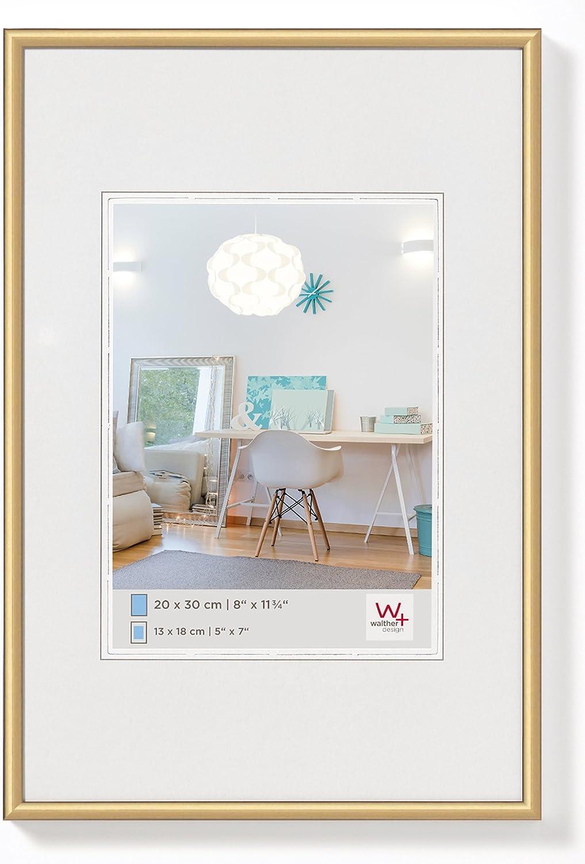 Walther Design New Lifestyle - Marco de plástico, Oro, 40 x 60 cm