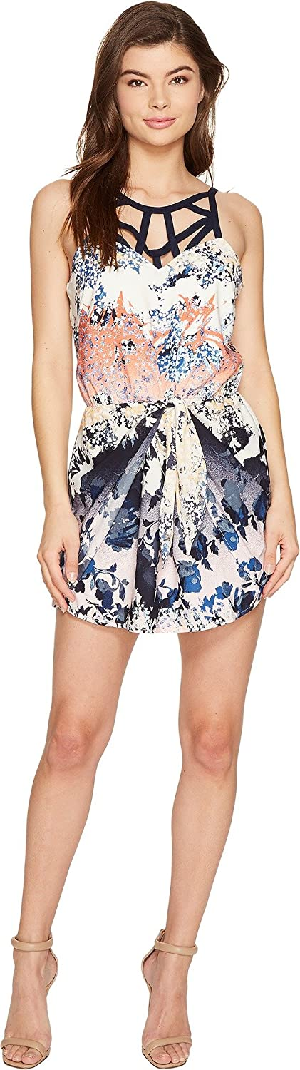 Adelyn Rae Womens Frances Woven Printed Romper