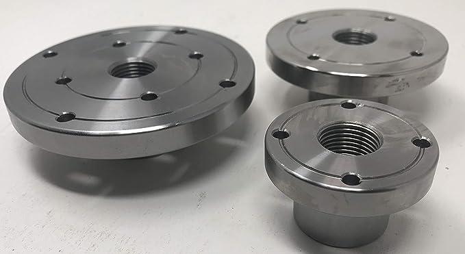 2 Steel Wood Lathe Face Plate 3//4 x 16tpi Threaded 3//4 x 16tpi Threaded Maxwood 5134