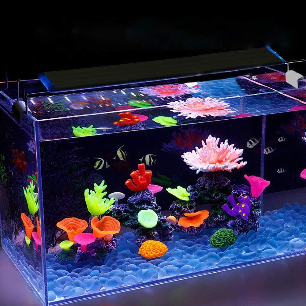 Aquarium Coral Decor Coral Ornaments Plant Ornaments for Fish Tank Aquarium  Decoration Flower Shape 2 7/10 x 3 9/10 Danmu 1pc of Glowing Effect  Artificial Coral Fish & Aquatic Pets Coral Ornaments